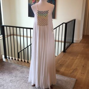 Mara Hoffman beaded trapeze maxi dress